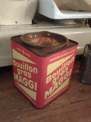 Boite bouillon gras Maggi ancienne. Ref.0128