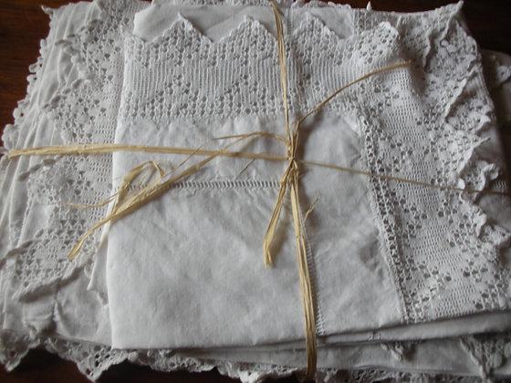 Parure de draps anciens. Ref.0485B