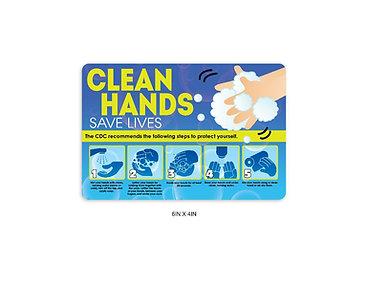 """Clean Hands"" PVC Sign"