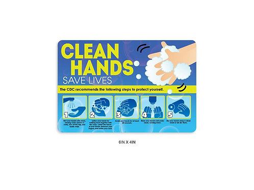 """Clean Hands"" PVC Sign"