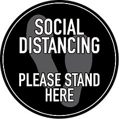 Grey Social Distancing Floor Decal