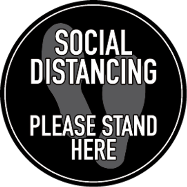Grey Social Distancing Floor Decal
