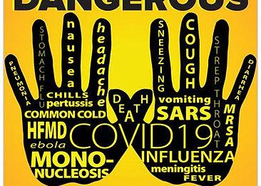 """""""Dangerous Hands"""" PVC Sign"""