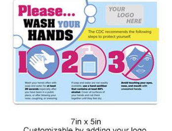 """Customizable """"Wash Your Hands"""" Decal"""