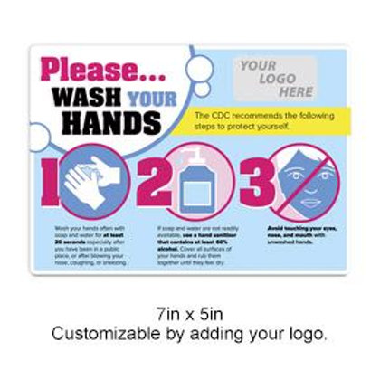 "Customizable ""Wash Your Hands"" Decal"