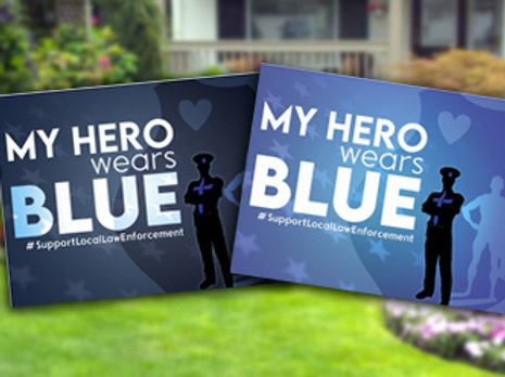 Signs to Support Law Enforcement