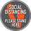 Thumbnail: Grey/Orange Social Distancing Floor Decal