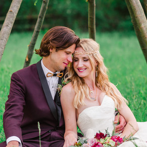 Bohemian Wedding at Rustic Rose Barn Weddings