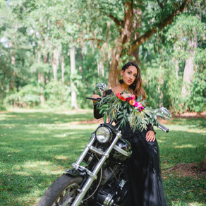 Motorcycle Bridal Portraits