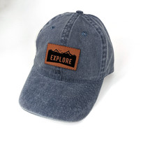 Hat with Engraved Patch