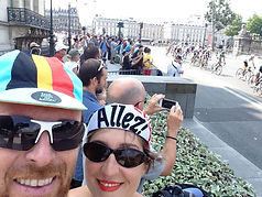 "BUCK!T visits the inaugural womens road-race ""La Course"" in Paris, France"