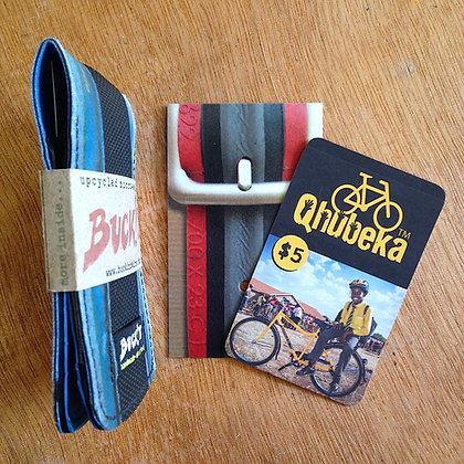 QHUBEKA MICROwallet (black/blue) ltd. edition