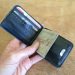 Upcycled bicycle tyre microclip wallet