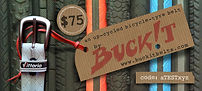 BUCKiT belts - upcycled bicycle tyre gift vouchers
