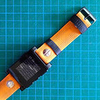 BRAND NEW PEBBLE smartwatch with upcycled handmade bicycle tyre watchbelt