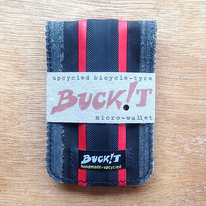 RED-STRIPE tubular MICROwallet (red/black)