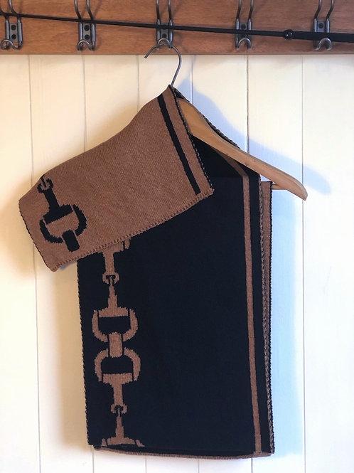 Foulard écolo réversible brun et noir