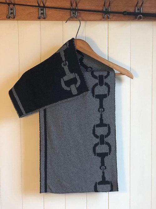 Foulard écolo réversible noir et gris