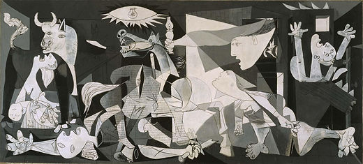 Guernica,painting on canvas by SpanishPablo Picassoin June 1937