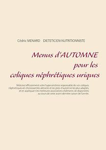 Livre de menus diététiques d'automne pour les coliques néphrétiques uriques