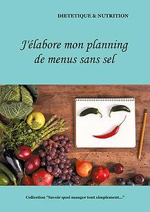 Livre de planning de menus diététiques vierge sans sel
