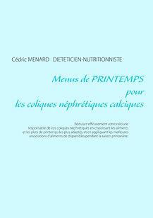 Livre de menus de printemps pour les coliques néphrétiques calciques