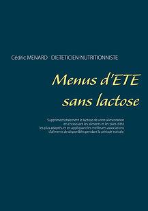 Livre de menus diététiques d'été sans lactose