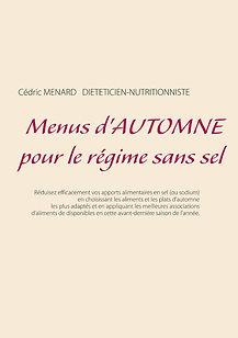 Livre de menus diététiques d'automne sans sel