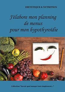 Livre de planning de menus vierge pour l'hypothyroïdie