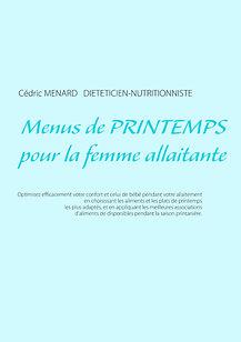 Livre de menus diététiques de printemps pour la femme allaitante