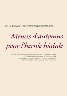 Livre de menus diététiques d'automne pour l'hernie hiatale