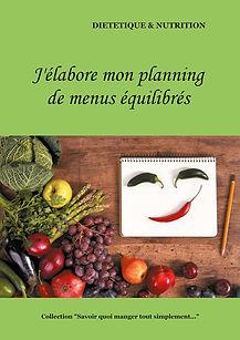 Livre de planning de menus diététiques vierge pour les adultes