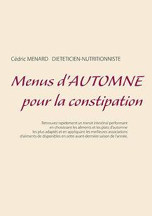Livre de menus d'automne pour la constipation