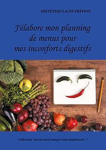 Livre de planning de menus vierge pour les inconforts digestifs