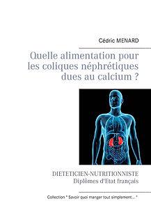 Livre de conseils diététiques pour les coliques néphrétiques calciques