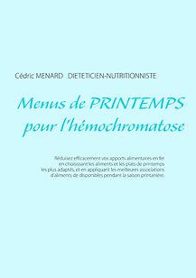 Livre de menus de printemps pour l'hémochromatose