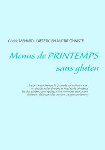 Livre de menus diététiques de printemps sans gluten
