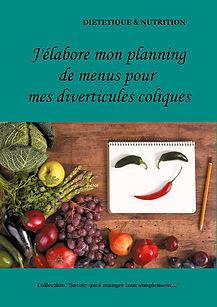 Livre de planning de menus vierge pour les diverticules coliques