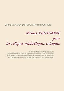 Livre de menus diététiques d'automne pour les coliques néphrétiques calciques