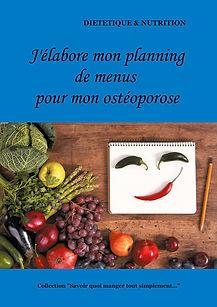Livre de planning de menus vierge pour l'ostéoporose