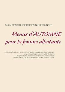 Livre de menus diététiques d'automne pour la femme allaitante