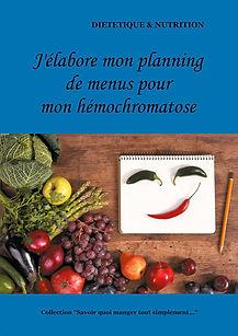 Livre de menus vierge pour l'hémochromatose