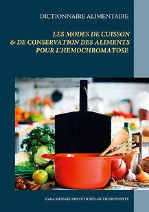 Livre dictionnaire des modes de cuisson pour l'hémochromatose