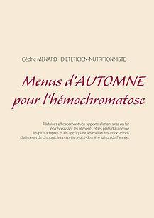 Livre de menus d'automne pour l'hémochromatose