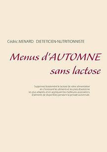 Livre de menus d'automne sans lactose