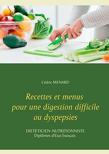 Livre de recettes diététiques pour les dyspepsies