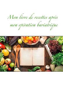 Livre de recettes diététiques vierge pour l'opération de l'obésité