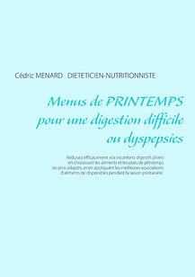 Livre de menus diététiques de printemps pour les dyspepsies