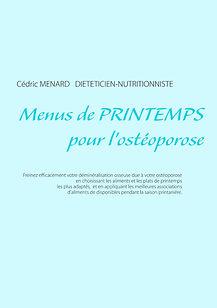 Livre de menus diététiques de printemps pour l'ostéoporose
