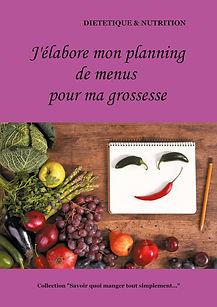 Livre de planning de menus vierge pour la femme enceinte